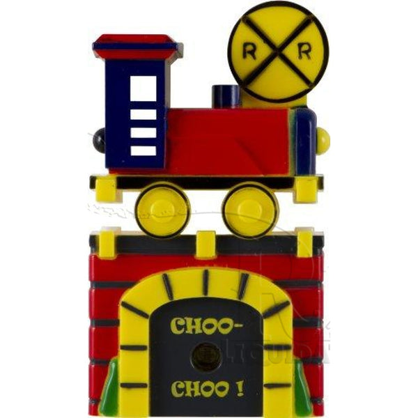 13350 Light-Sensing LED Train Night Light, Red/Blue/Green/Yellow