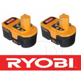 (2) New Ryobi One Plus 18V 18 Volt NiCAD Battery Pack batteries P100 130224048