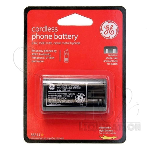 Ge Cordless Phone Battery 2.4V 1500 Mah Nimh - 36511 Closeouts