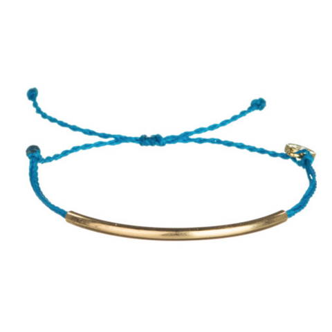 Blue Tube Friendship Bracelet