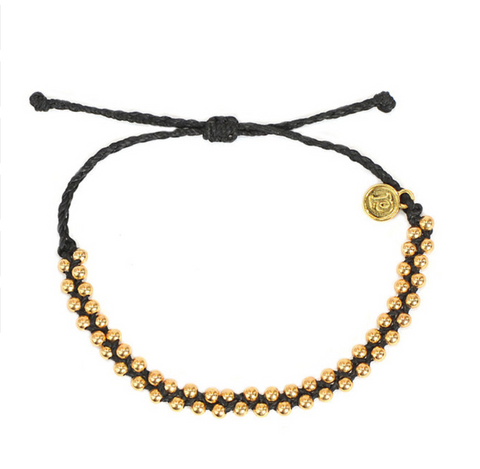 Black Beaded Friendship Bracelet
