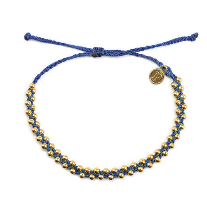Blue Beaded Friendship Bracelet
