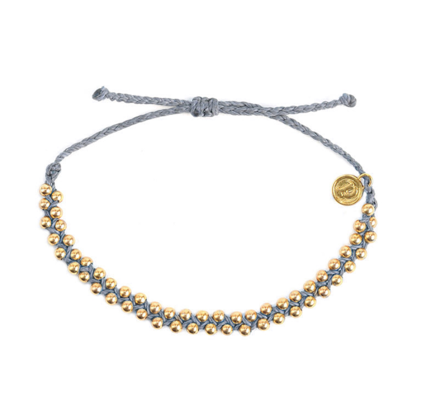 Grey Beaded Friendship Bracelet