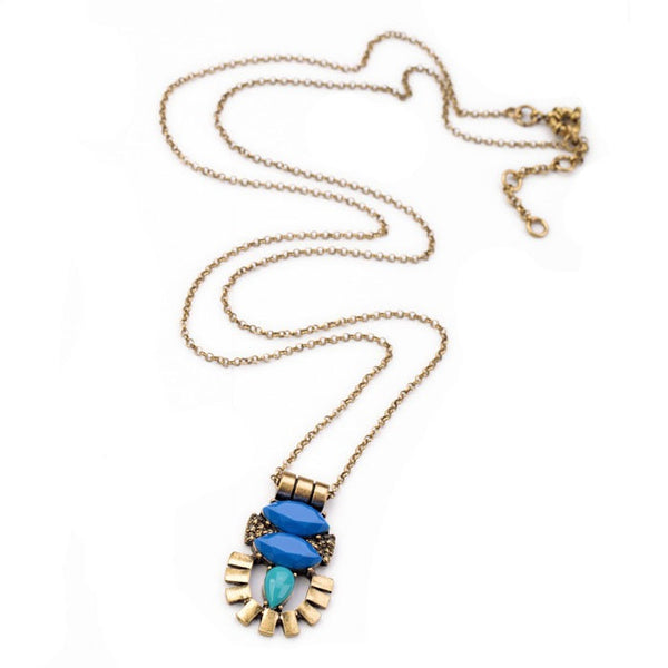 Blue Amulet Pendant Necklace