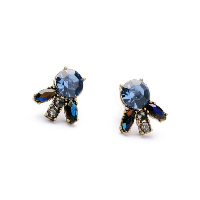 Ocean Glass Stud Earrings