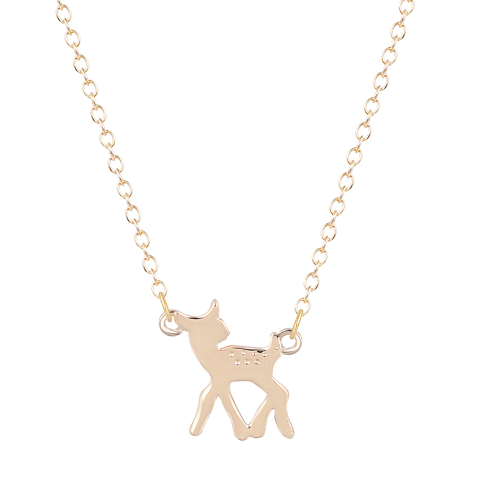Petite Gold Deer Necklace