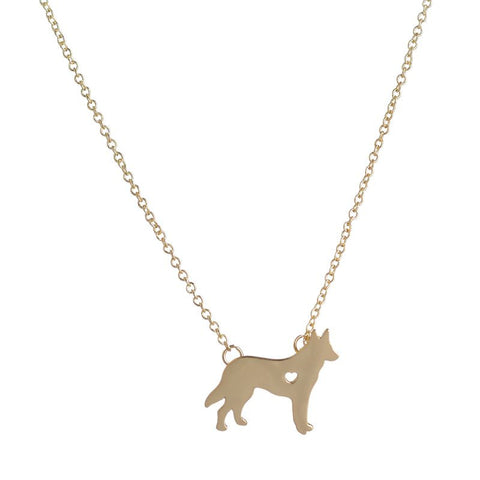 Petite German Shepherd Necklace