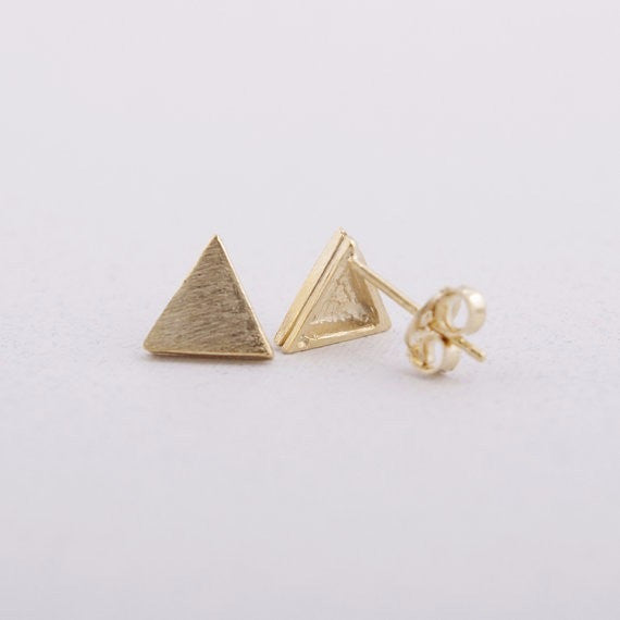 Petite Triangle Earrings
