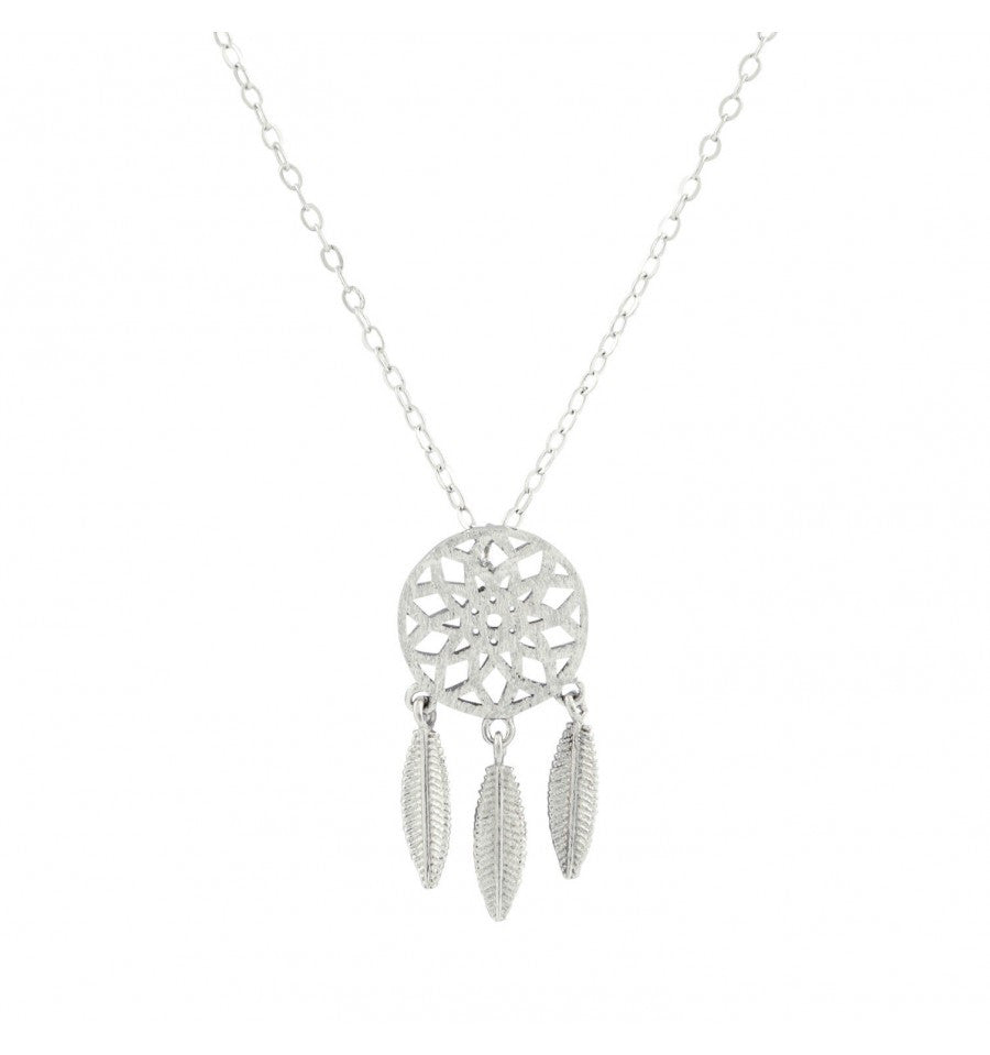 Petite Silver Dreamcatcher Necklace