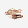 Fighting Hunger Bullet Necklace- Rose Gold