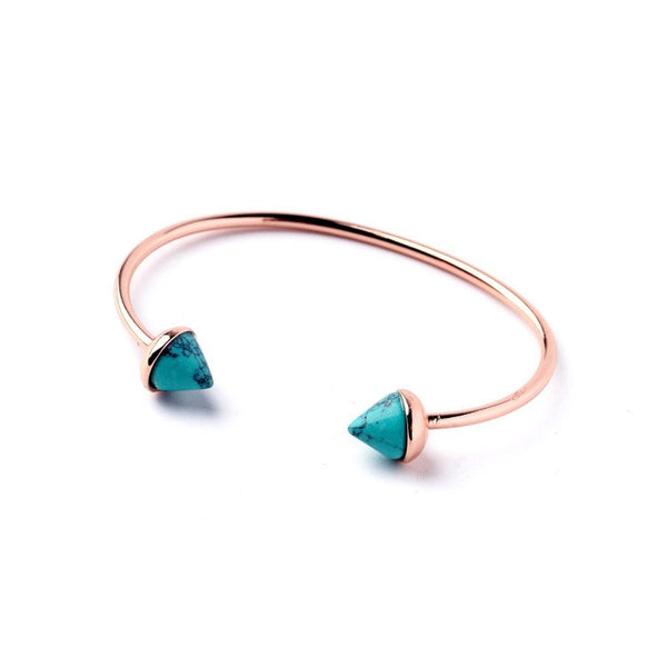 Howlite Blue + Rose Gold Cuff