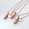 Rose Gold Fighting Hunger Bullet Necklace