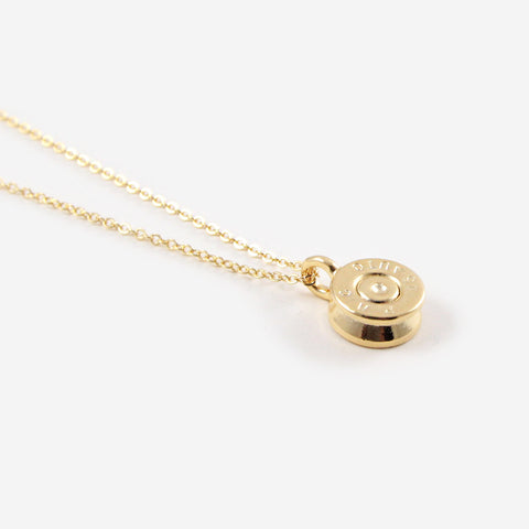 The Tiny Top Bullet Necklace Gold