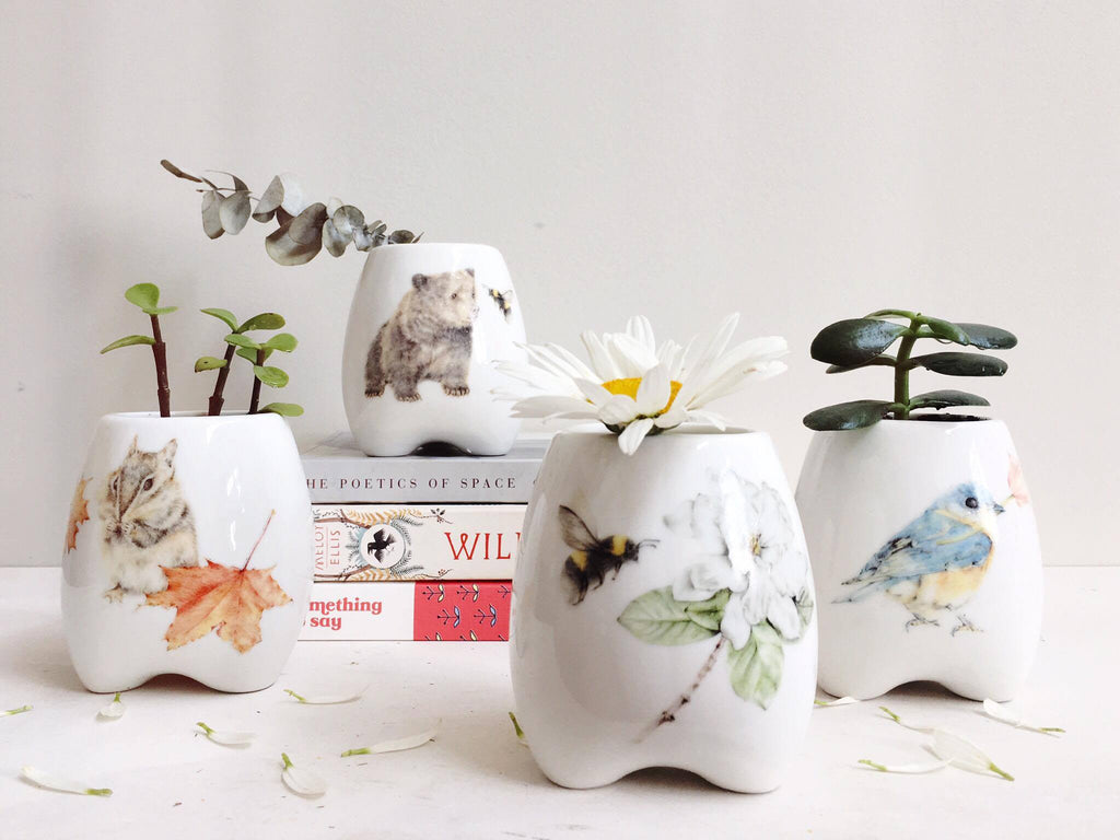Flower & Bee Grow Pot
