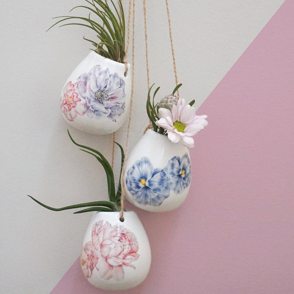BUNDLE BUY Pick and Choose 3 x Ceramic Hanging Plant Pots