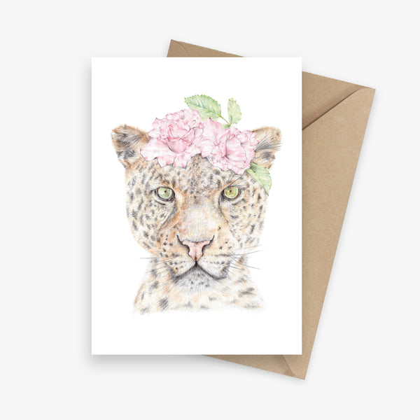 Ava The Leopard Greeting Card