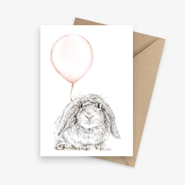 Birthday Bunny Greeting Card