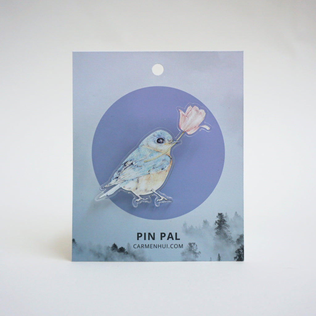 Limited Edition Bluebird Pin Pal