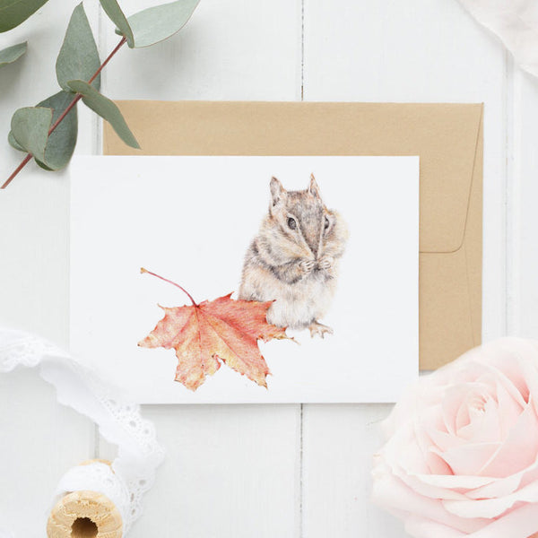 Chipmunk Greeting Card