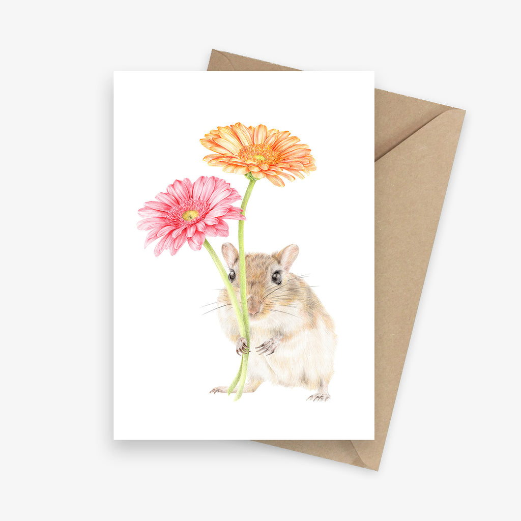 Gerald the Gerbil Greeting Card