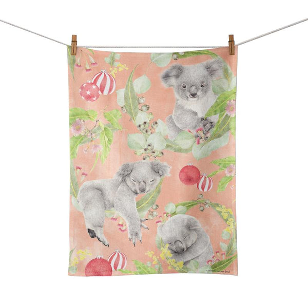 Festive Koala Tea Towel
