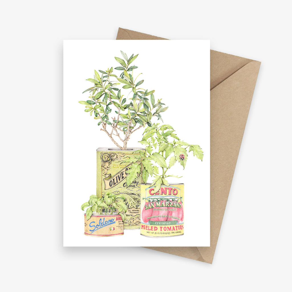Nonna's Garden Greeting Card