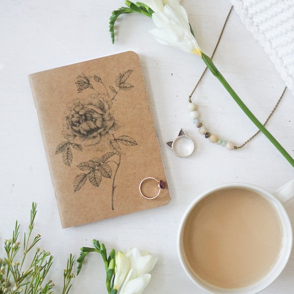 Rose Recycled Kraft Notebook