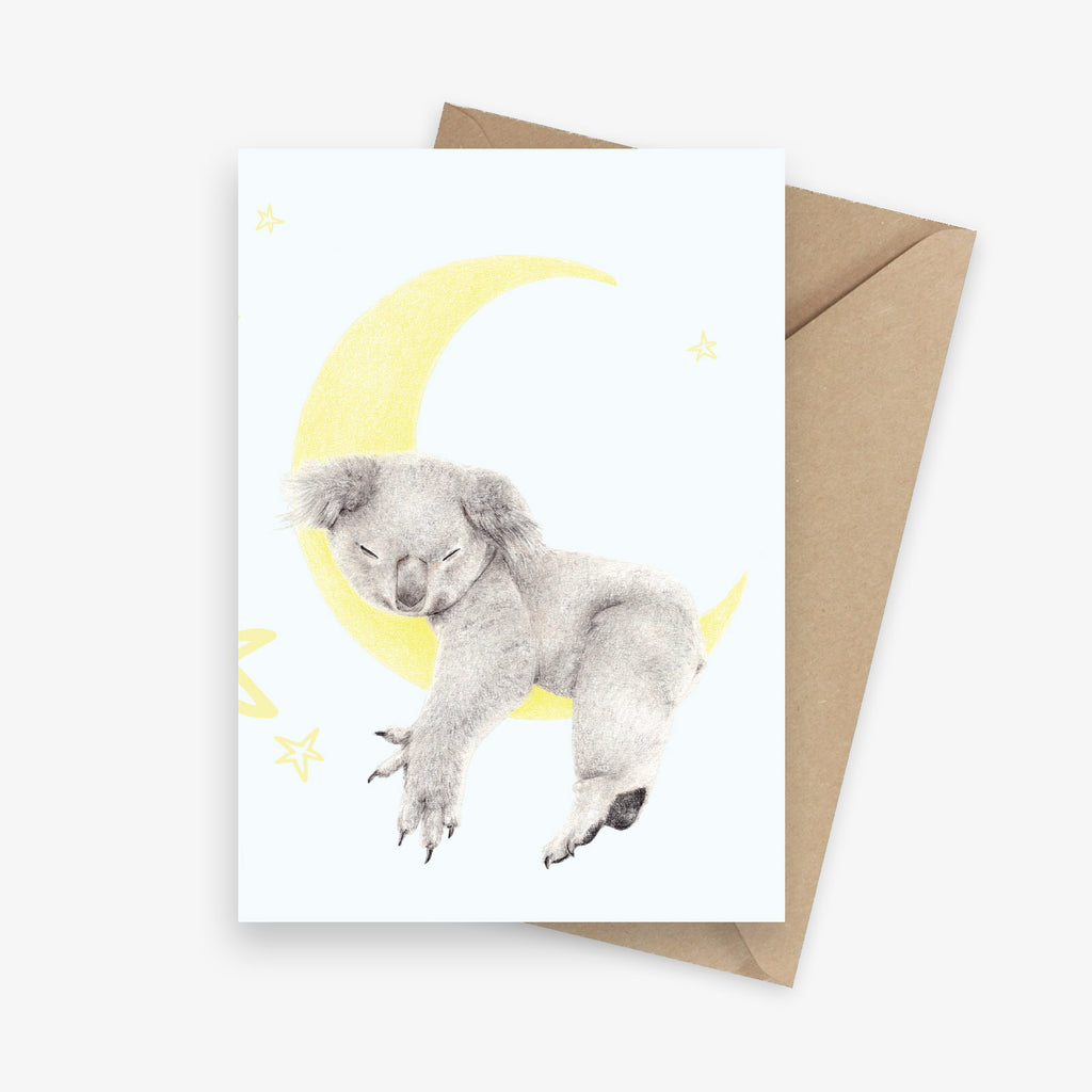 Sleepy Koala Greeting Card