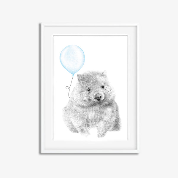 Walter the Wombat with Balloon