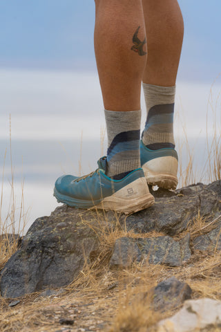 Standing with Wool socks photo of shoes and socks