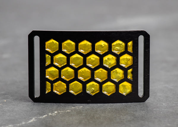 Grip6 Honeycomb belt buckles craft project