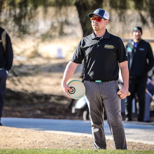 The disc golf clientele has changed significantly. More players are getting serious about the game and switching from regular golf to disc golf. Pictured is a player preparing to throw a disc.