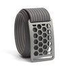 grip6 belts conservation series honeycomb buckle with grey strap xerces