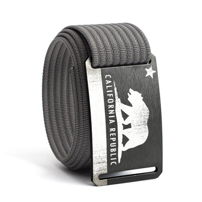 Men's California Flag Buckle GRIP6 belt with Grey strap swatch-image