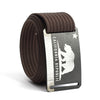 Men's California Flag Buckle GRIP6 belt with Mocha strap swatch-image