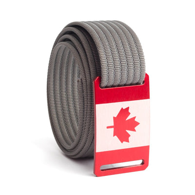 Kids' Canada Flag Buckle GRIP6 belt with Grey strap swatch-image
