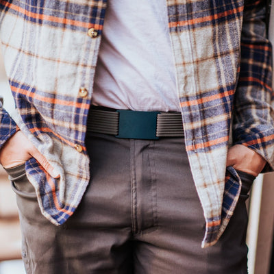 GRIP6 Classic Men's Belt Navy (Aggie) Buckle Collection