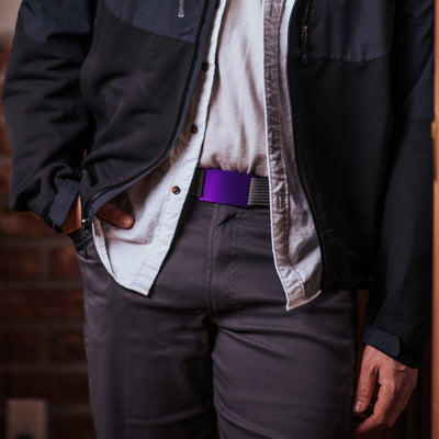 GRIP6 Classic Men's Belt Lupine (Purple) Buckle Collection