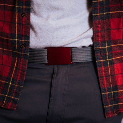 GRIP6 Classic Men's Belt Ember (Red) Buckle Collection