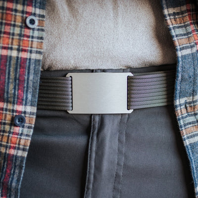 GRIP6 Classic Men's Belt Granite (Silver) Buckle Collection swatch image