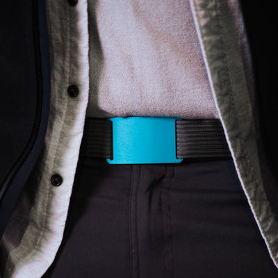GRIP6 Classic Men's Belt Teal (Aurora) Buckle Collection