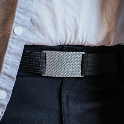 "Near-Perfect Men's Carbon Buckle (for 1.5"" straps)"