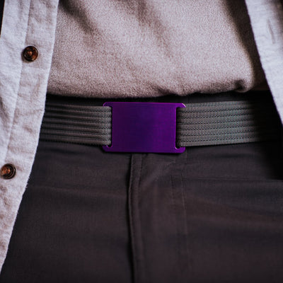 GRIP6 Belts Classic Men's Narrow Lupine (Purple) Collection