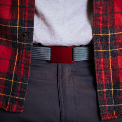 GRIP6 Belts Classic Men's Narrow Ember (Red) Collection