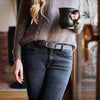 fb-feed GRIP6 Classic Women's Belt Gunmetal (Grey) Buckle Collection