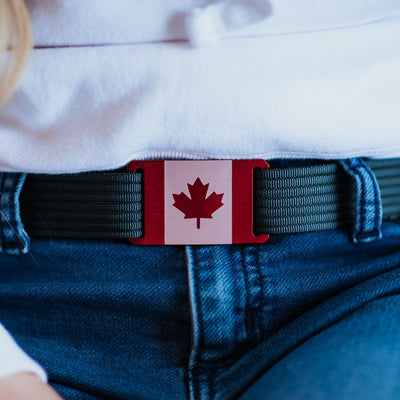 GRIP6 Belts Women's Canada Flag Buckle