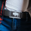 GRIP6 Belts Women's Wyoming Flag Buckle