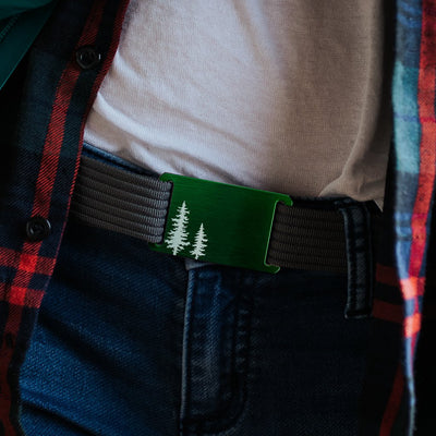 fb-feed GRIP6 Belts Women's Soul Pine Green buckle
