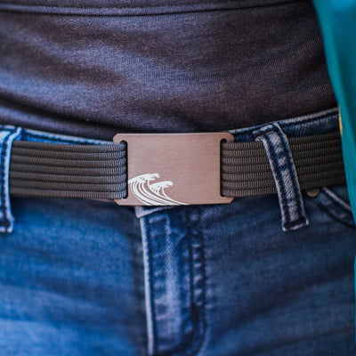 GRIP6 Belts Women's Soul Series with Gunmetal Surf Buckle