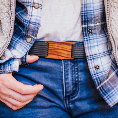 GRIP6 Belts Women's Olive wood grain buckle